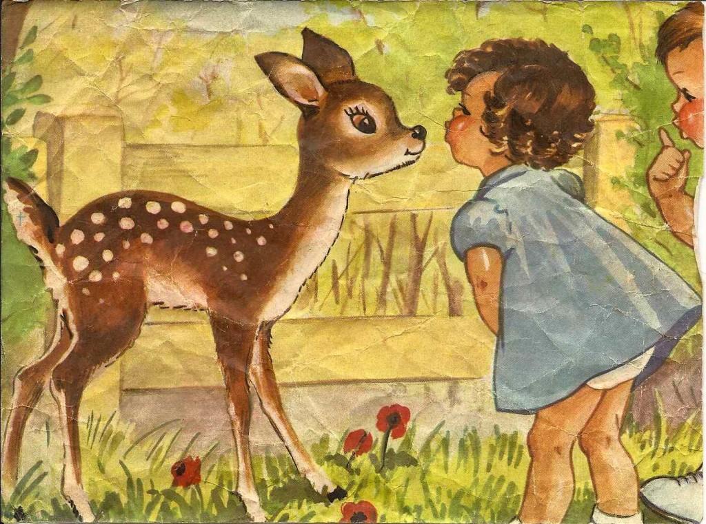 Petit faon dans Jeux cubes-bambi